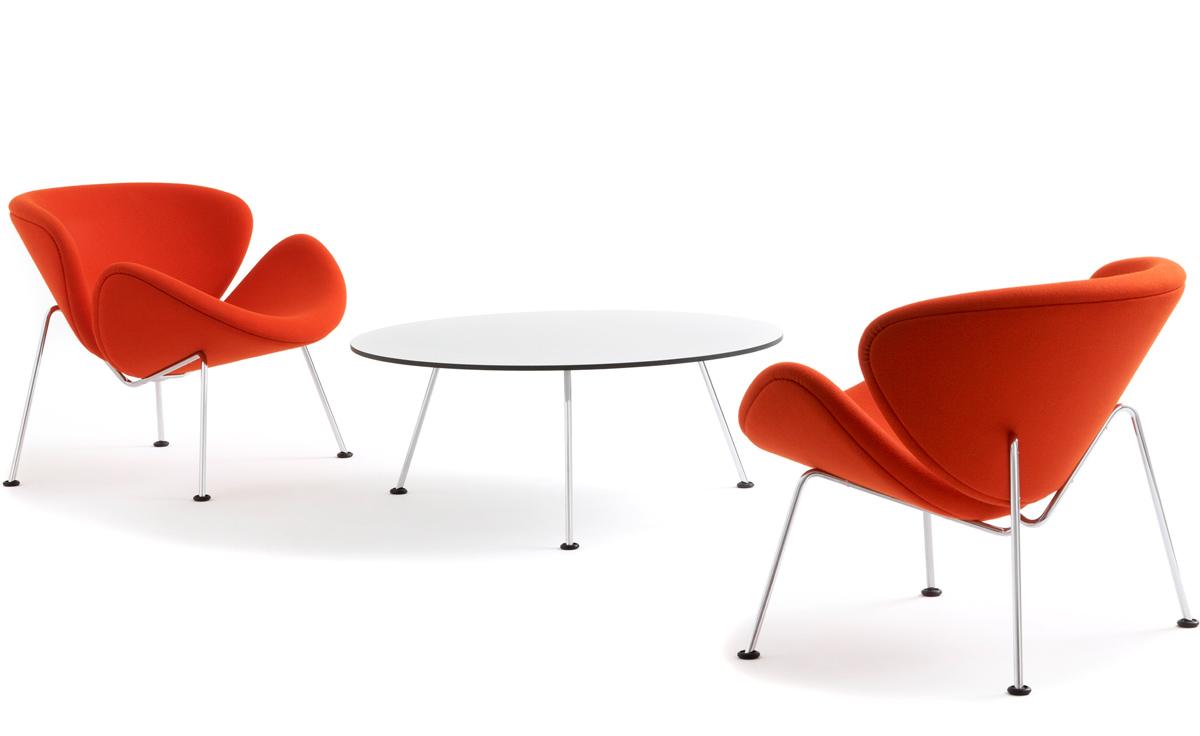Pierre Paulin Orange Slice Chair Hivemodern Com