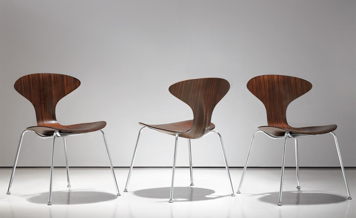 Orbit Wood Stacking Chair hivemodern