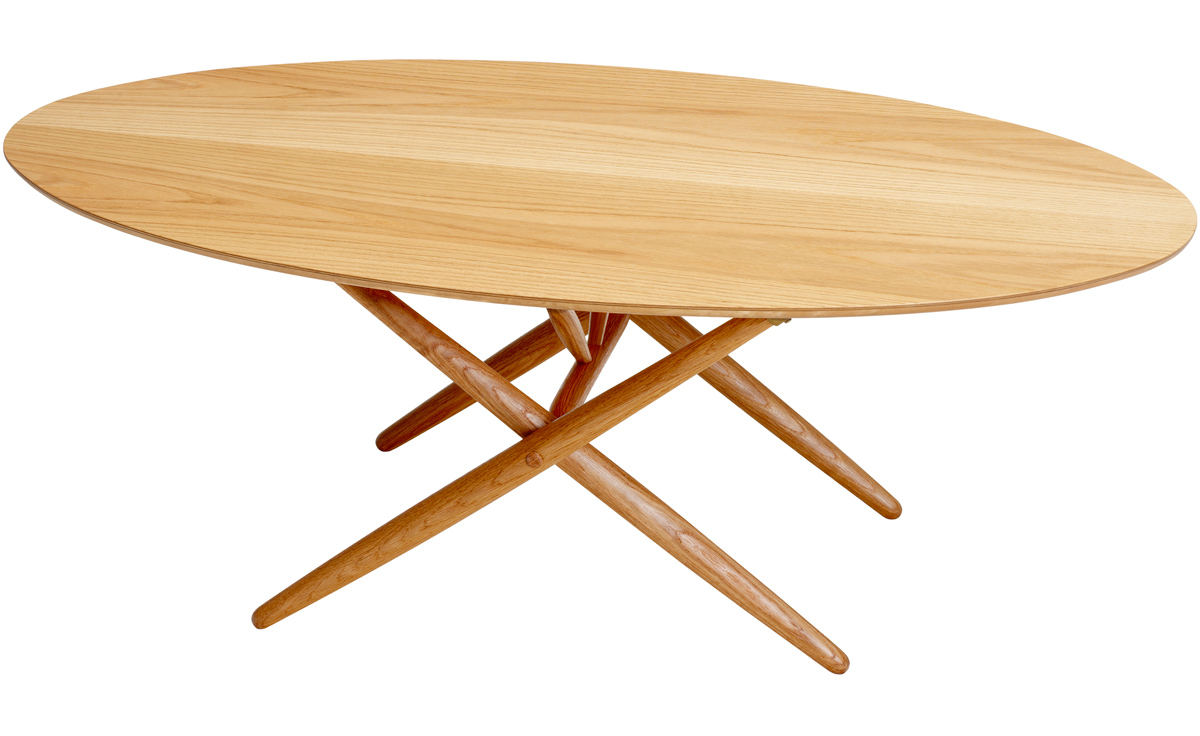 Ovalette coffee table hivemoderncom for Table salle a manger ovale