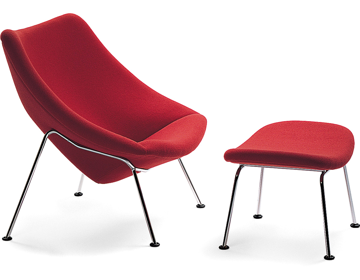 Oyster Lounge Chair Amp Ottoman Hivemodern Com