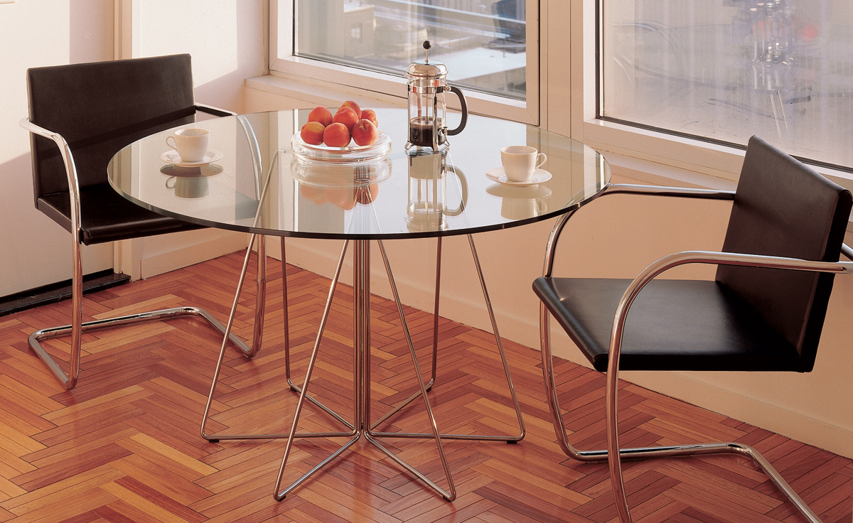 Round Table Orange.Paperclip Small Round Table