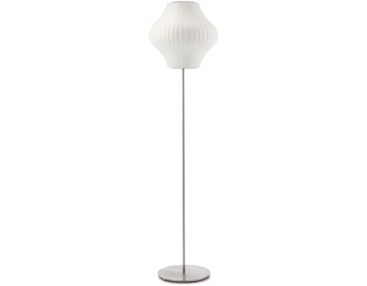 Nelson™ Pear Bubble Floor Lamp On Lotus Stand - hivemodern.com