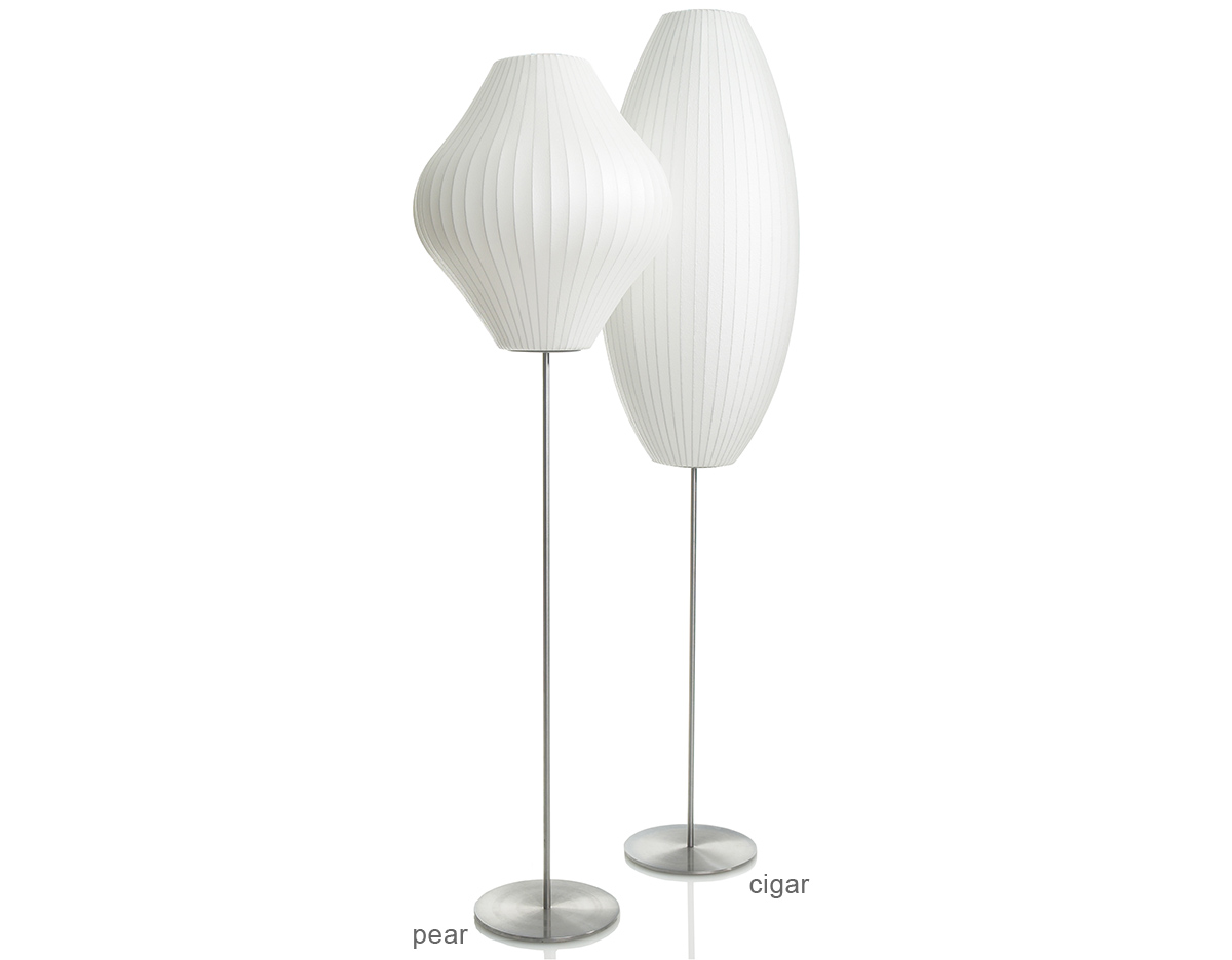 Nelson Pear Bubble Floor Lamp On Lotus Stand Hivemodern Com