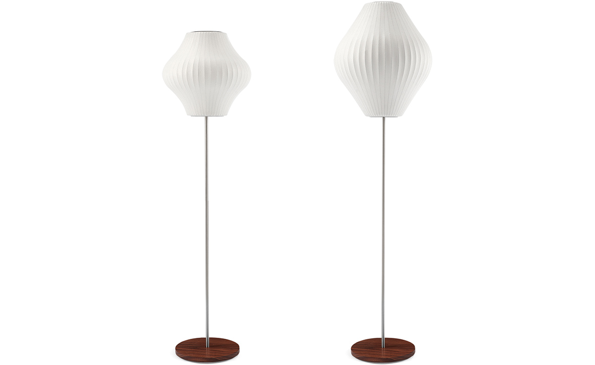 Pear Bubble Floor Lamp On Lotus Stand Hivemodern Com