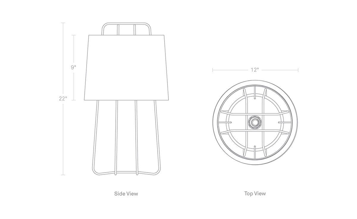 Perimeter Table Lamp Hivemodern Com