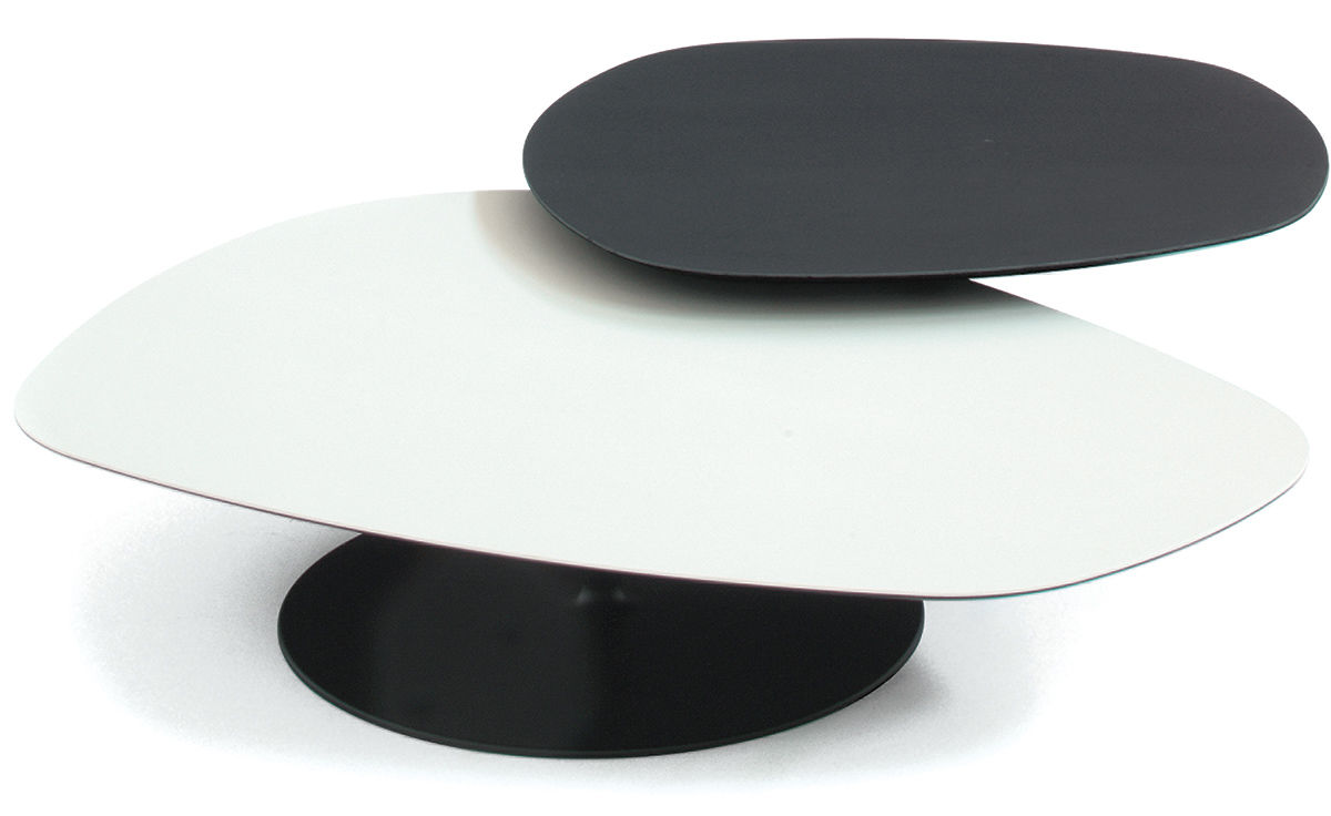 Phoenix Coffee Table With Metal Base Hivemodern Com