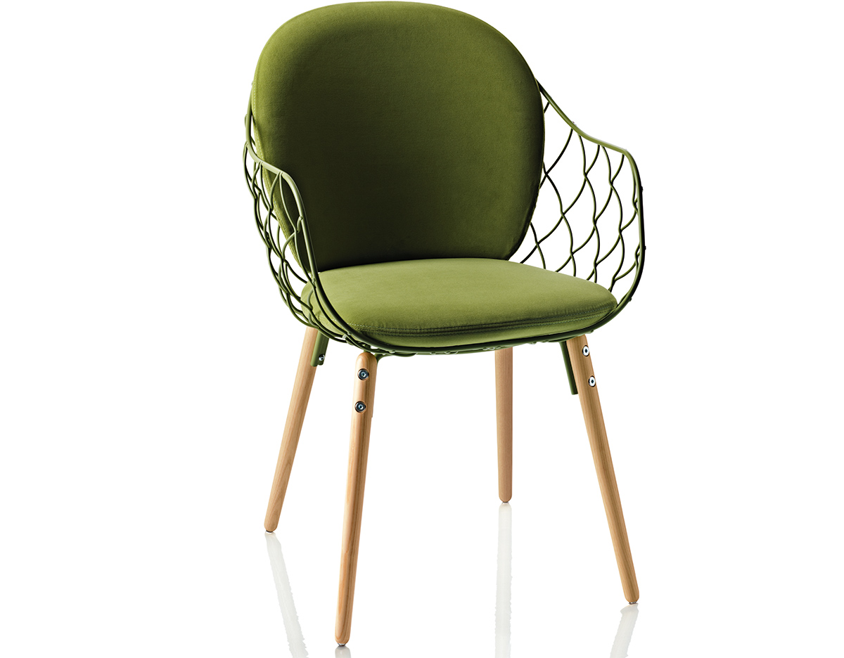 Magis Pina Chair With Full Back Cushion Hivemodern Com