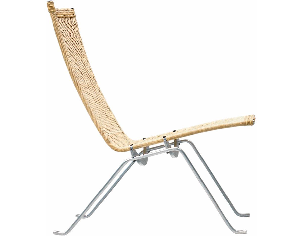 poul kjaerholm pk22 easy chair in wicker. Black Bedroom Furniture Sets. Home Design Ideas