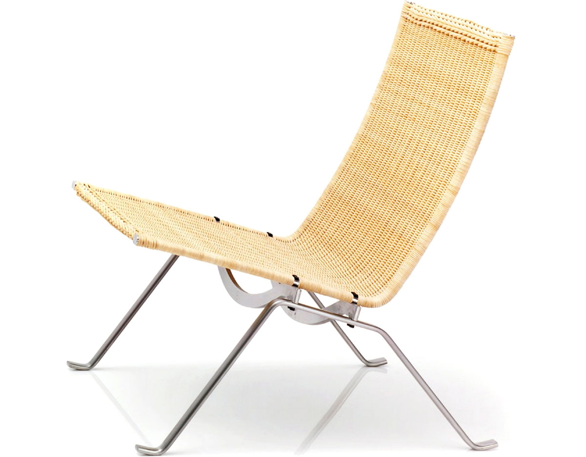 Etonnant Poul Kjaerholm Pk22 Easy Chair In Wicker
