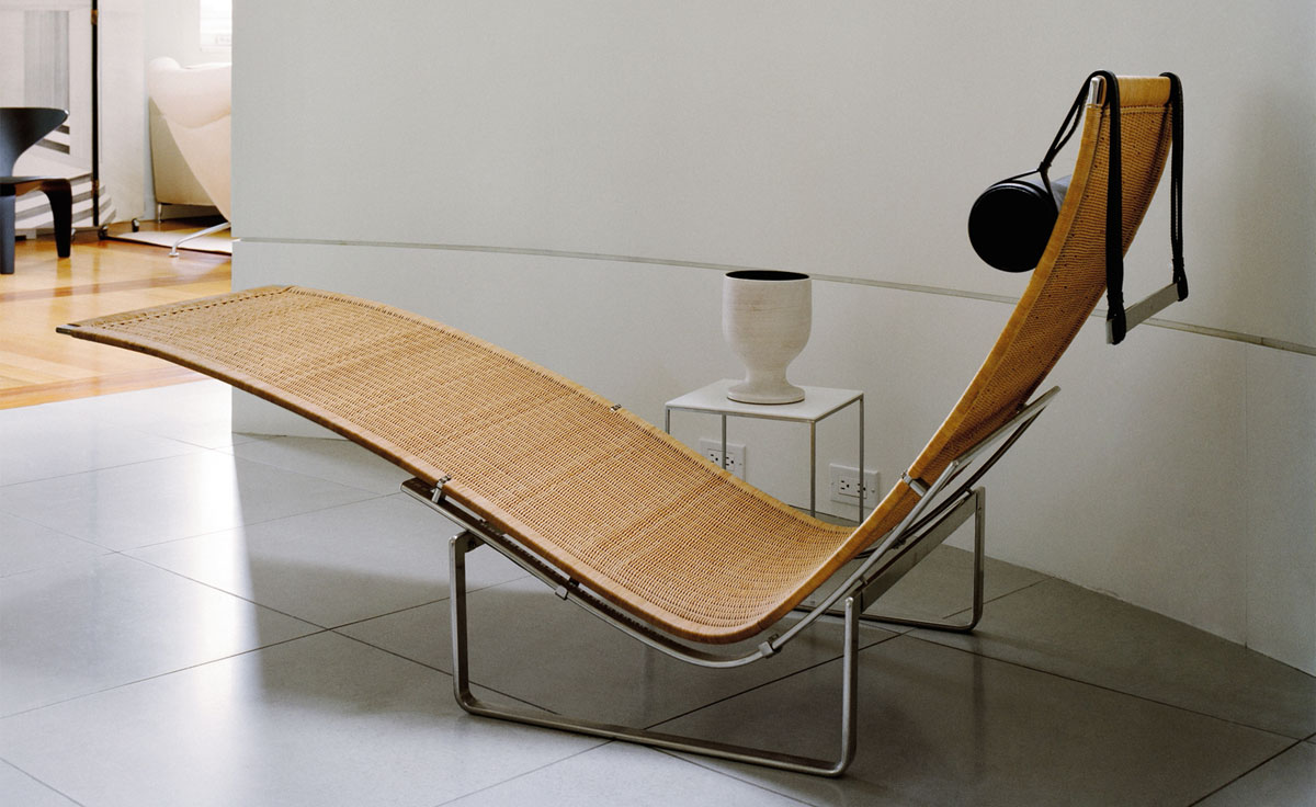 Pk24 wicker chaise lounge for Chaise lounge construction