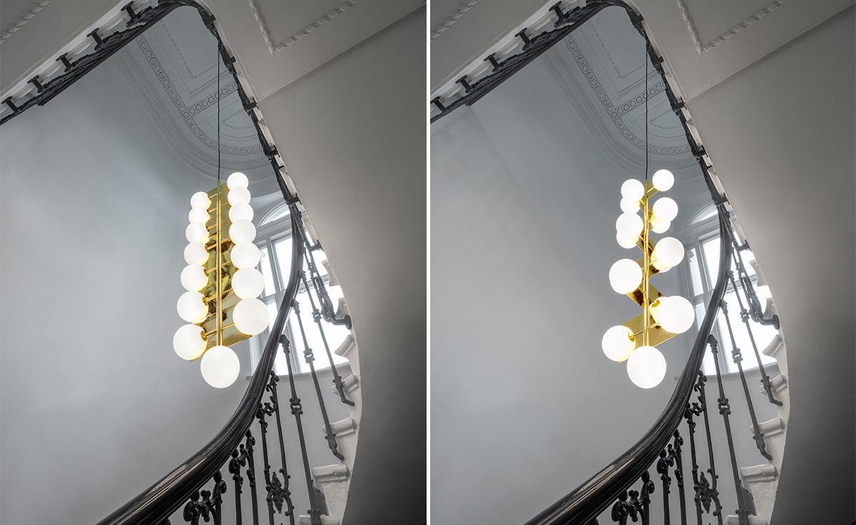 Plane drop chandelier hivemodern plane drop chandelier aloadofball Images