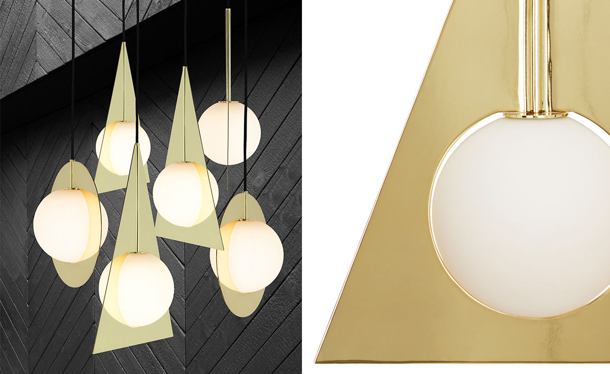 Plane triangle pendant light hivemodern plane triangle pendant light aloadofball Gallery
