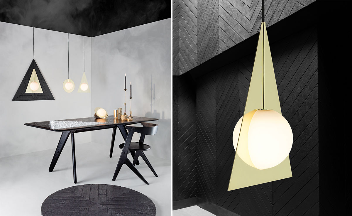 Plane triangle pendant light Tom dixon lighting
