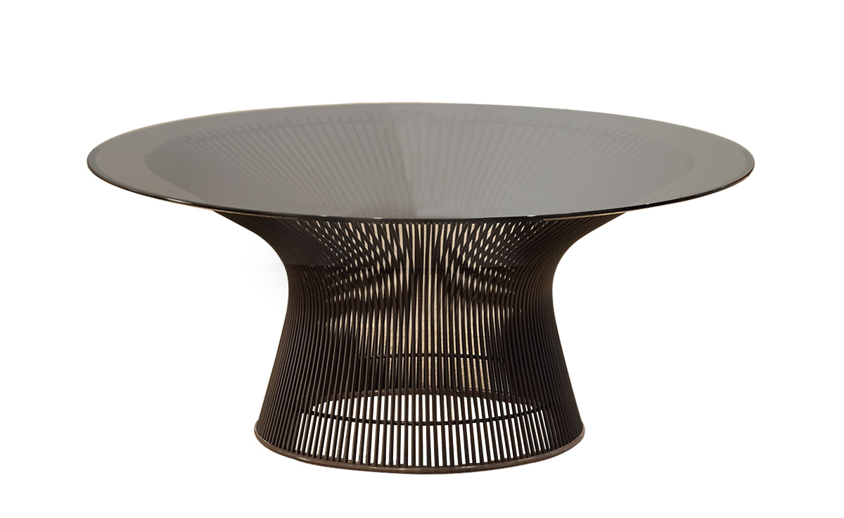 platner 36 bronze coffee table