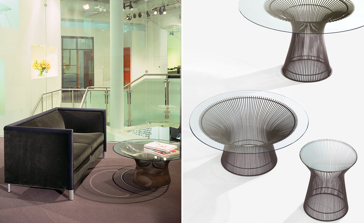 Platner 36 bronze coffee table hivemodern overview geotapseo Images