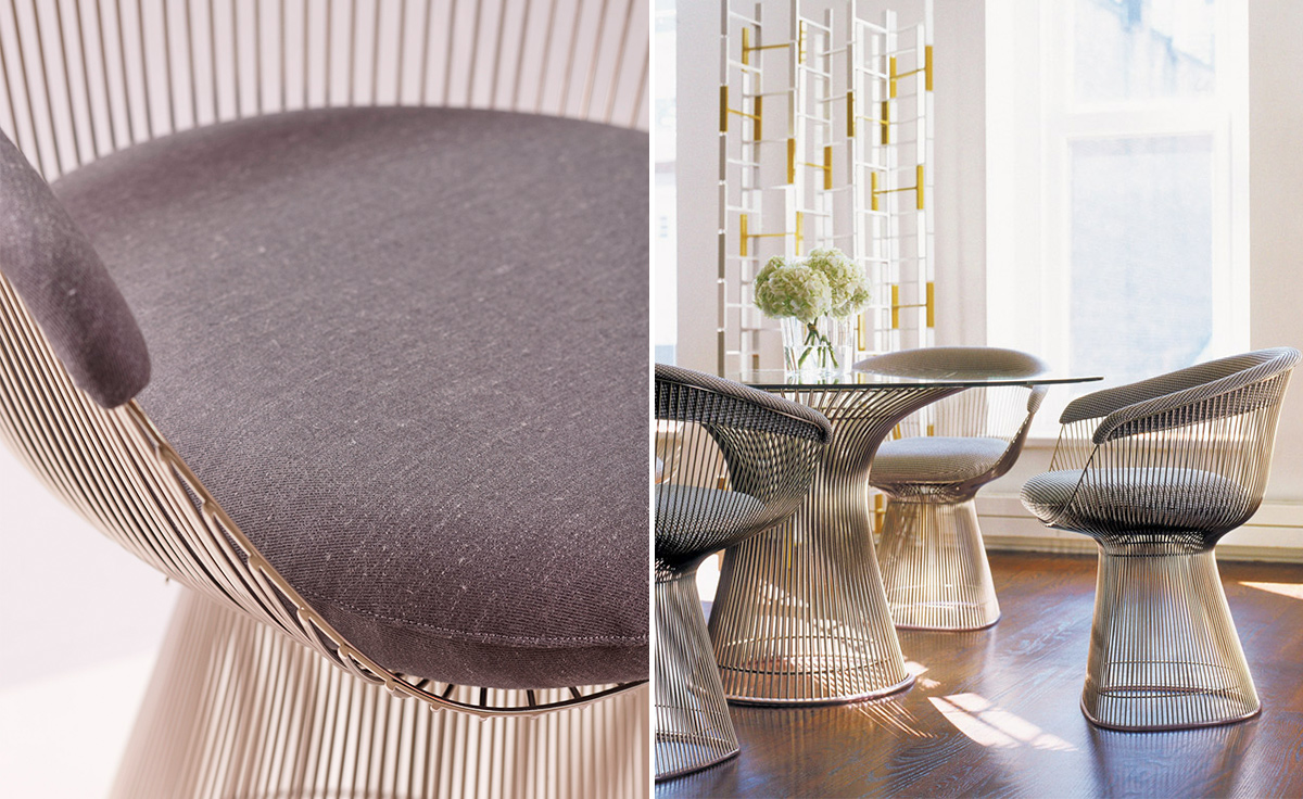 platner arm chair  hivemoderncom - overview