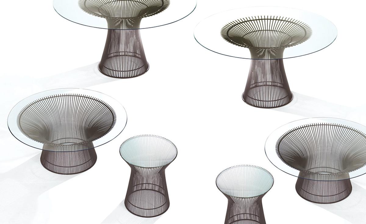 Platner Bronze Dining Table Hivemodern Com
