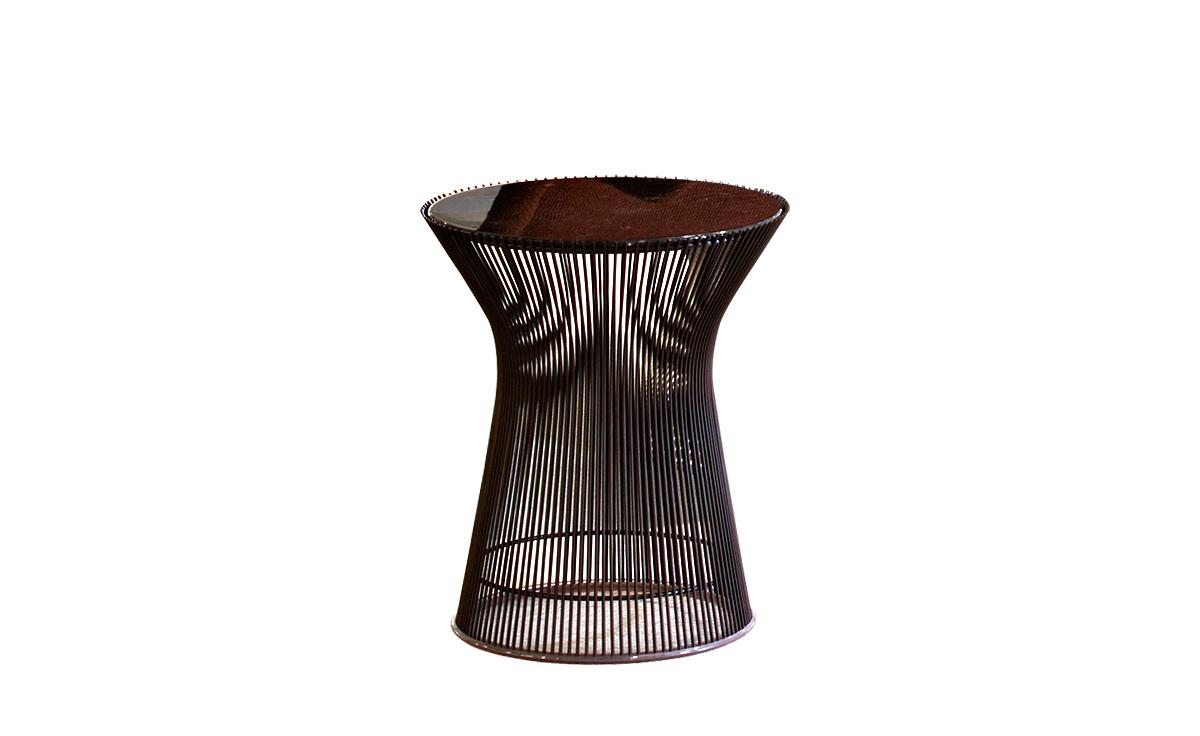 platner bronze side table
