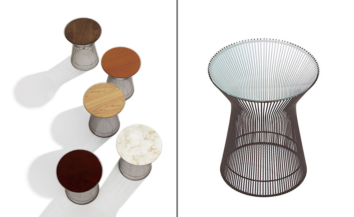 platner bronze side table  hivemoderncom - overview