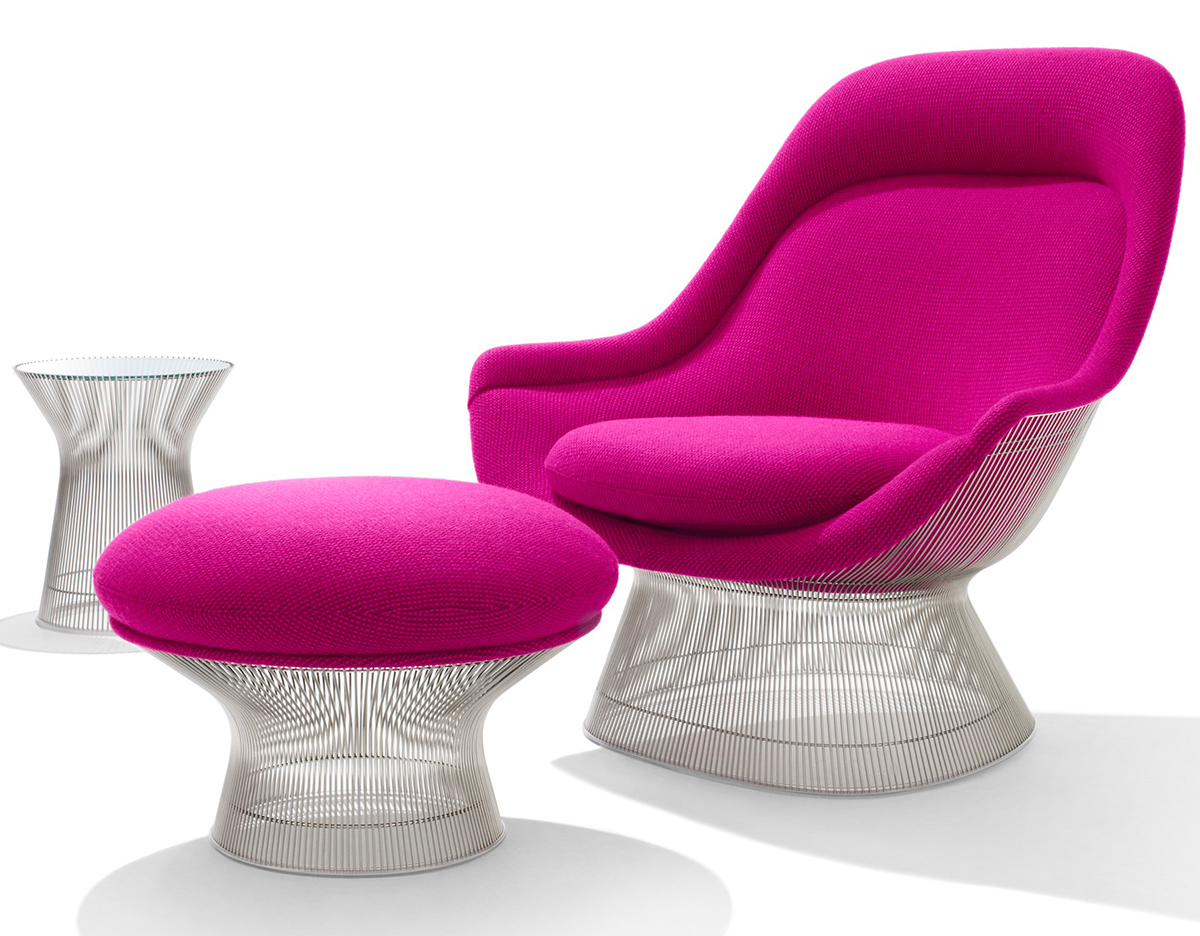 Platner Easy Chair And Ottoman Hivemoderncom