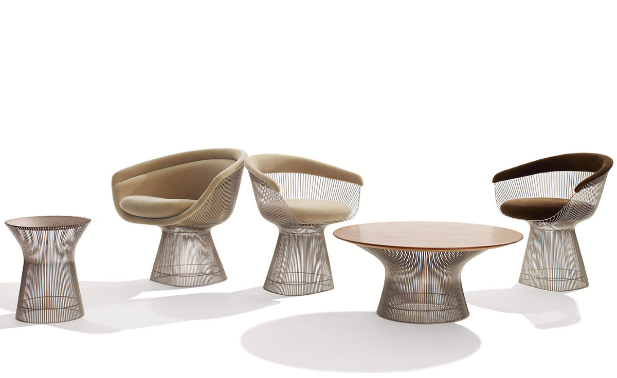 Platner gold plated dining table hivemodern com - Overview