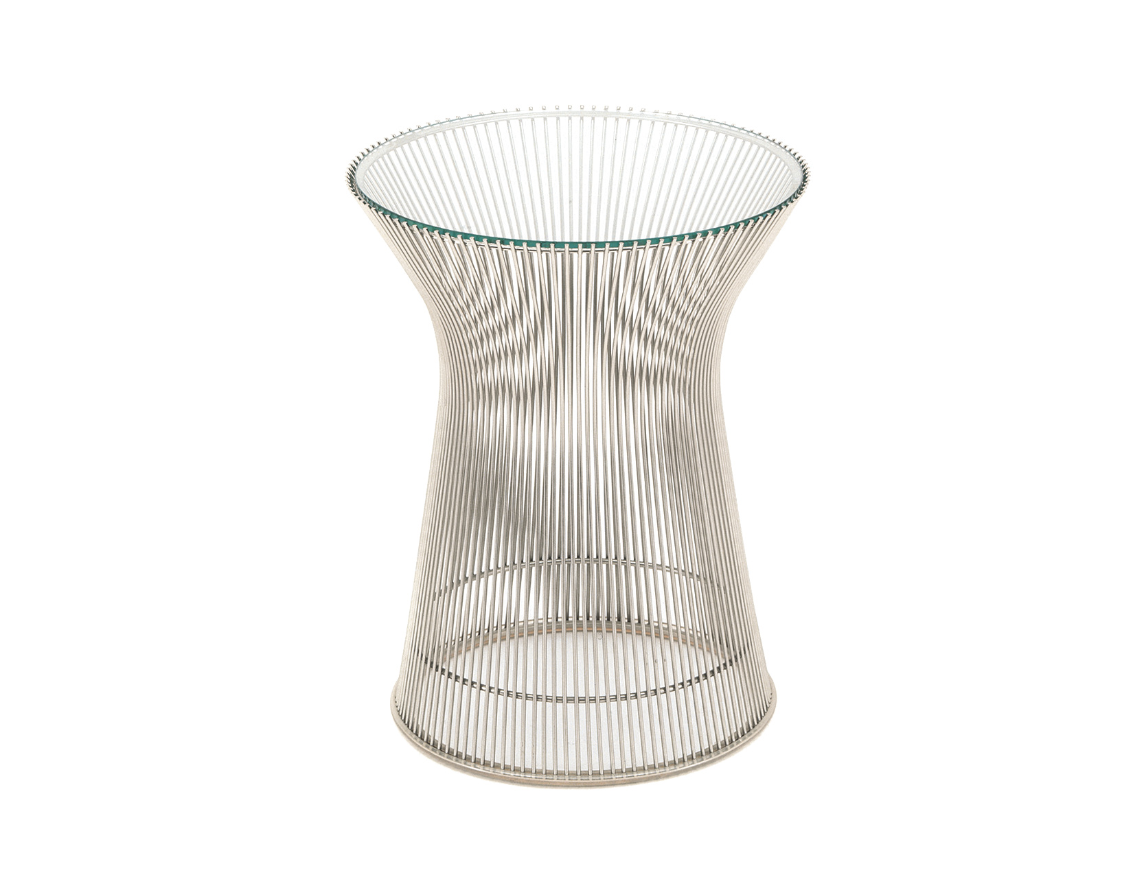 Platner nickel side table for Table warren platner