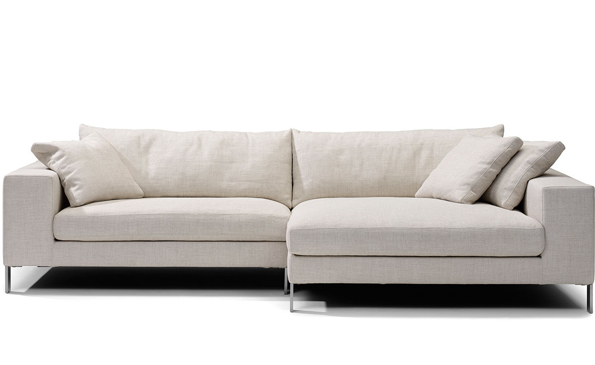 Small Modern Sectional Sofa, Cleon Small Modern Sectional Sofa Blu