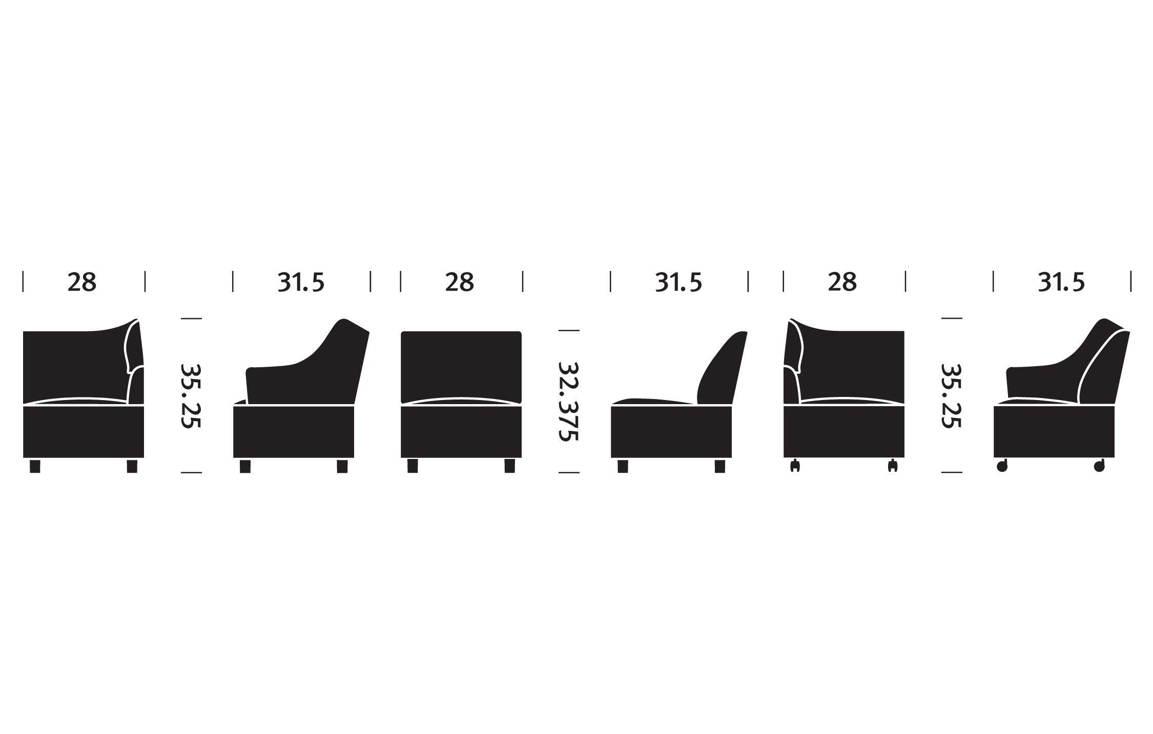 Plex™ Armless Chair hivemodern