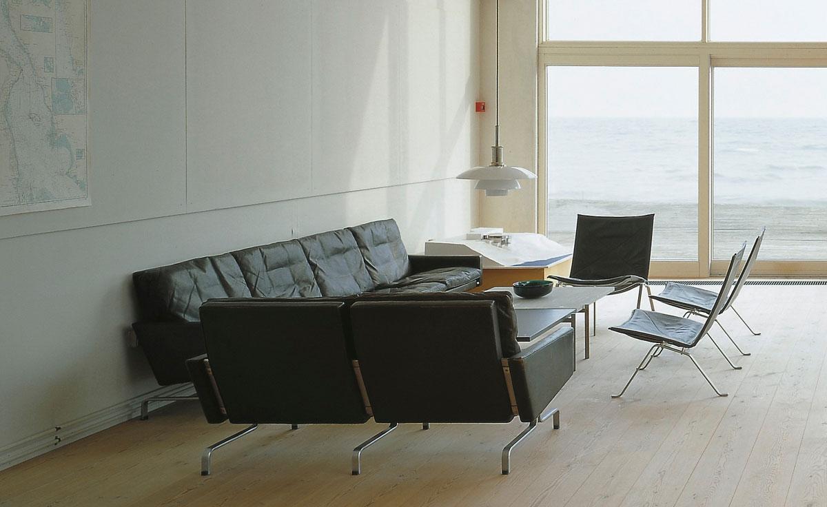 Poul Kjaerholm Pk31 Three Seat Sofa