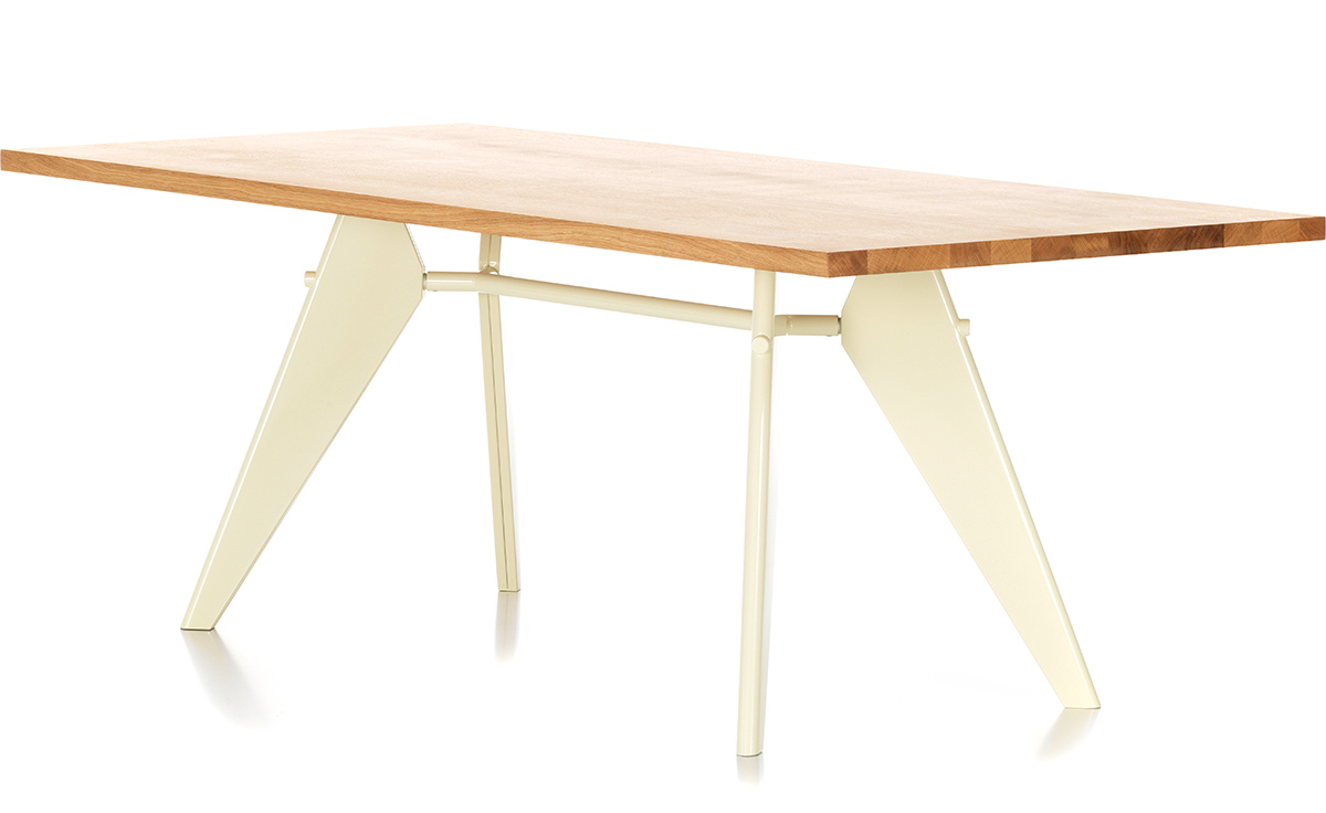 Teak Folding Table 200f Hivemodern Com - Prouve em table jean prouv vitra