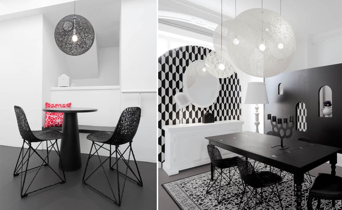 random suspension light. Black Bedroom Furniture Sets. Home Design Ideas