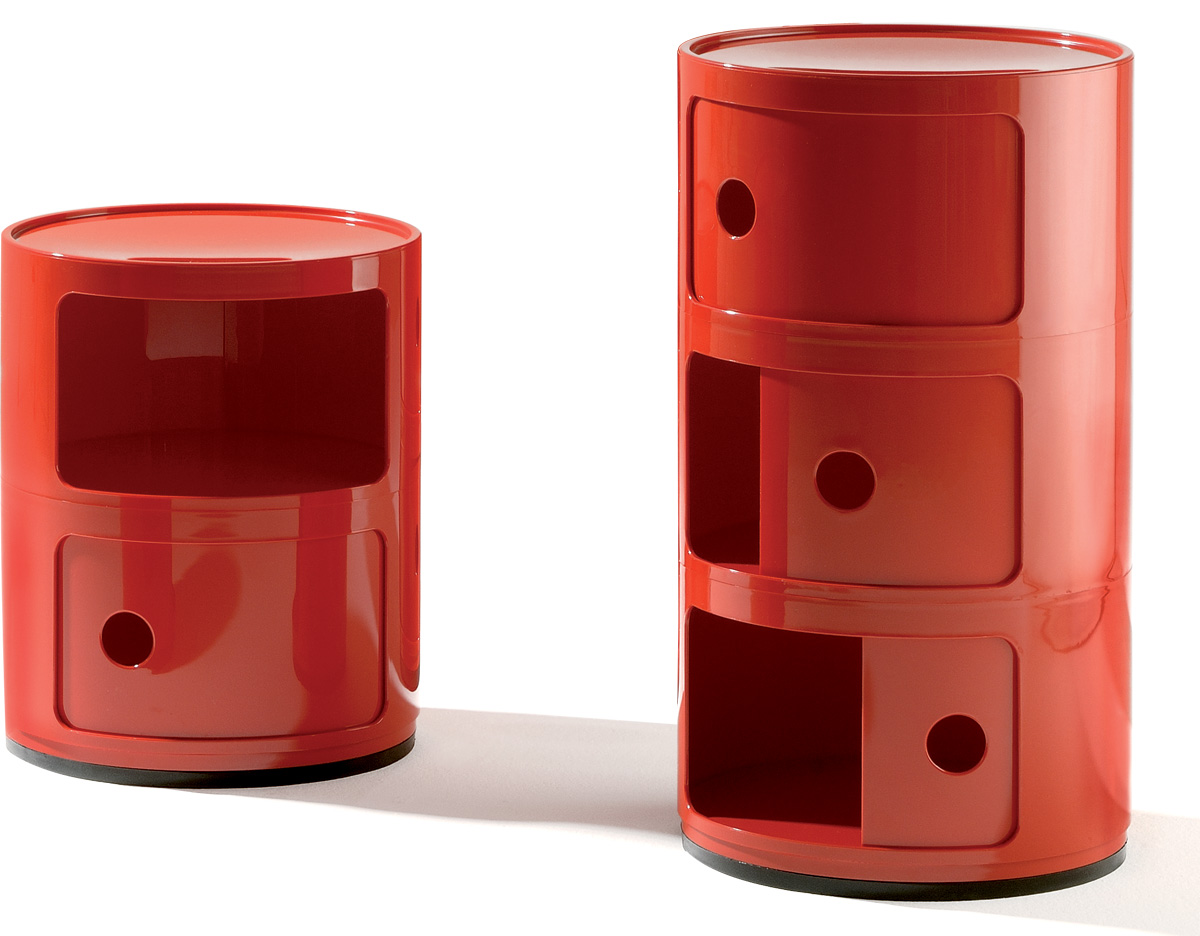 Kartell Componibili Kast : Red componibili storage module hivemodern