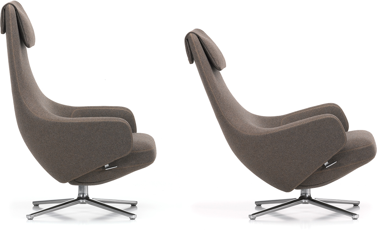 Repos lounge chair ottoman for Vitra lounge chair