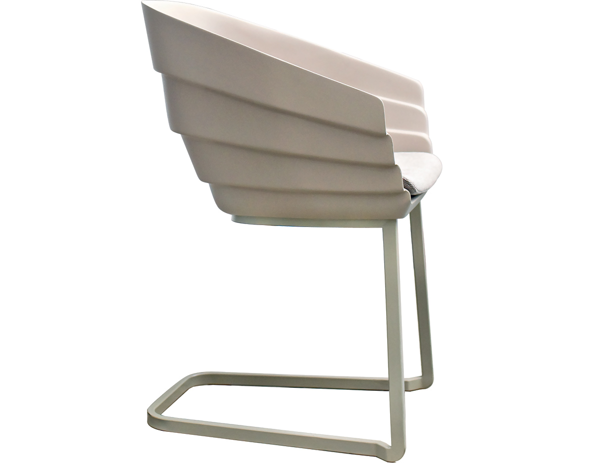 Incroyable Rift Cantiliever Chair With Seat Cushion