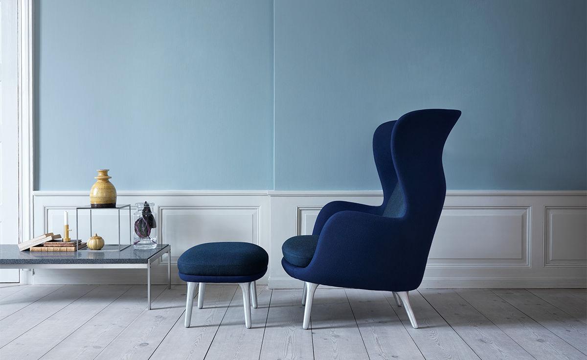 Ro Lounge Chair And Ottoman Hivemodern Com