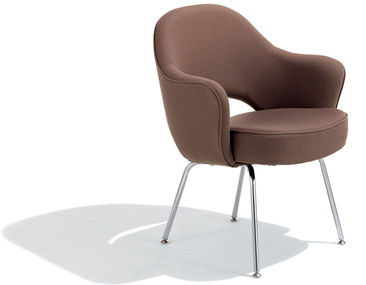 Saarinen executive arm chair with metal legs for Arm of chair