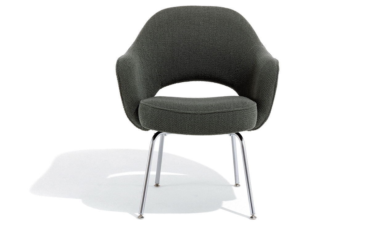 Saarinen Executive Arm Chair With Metal Legs Hivemodern Com
