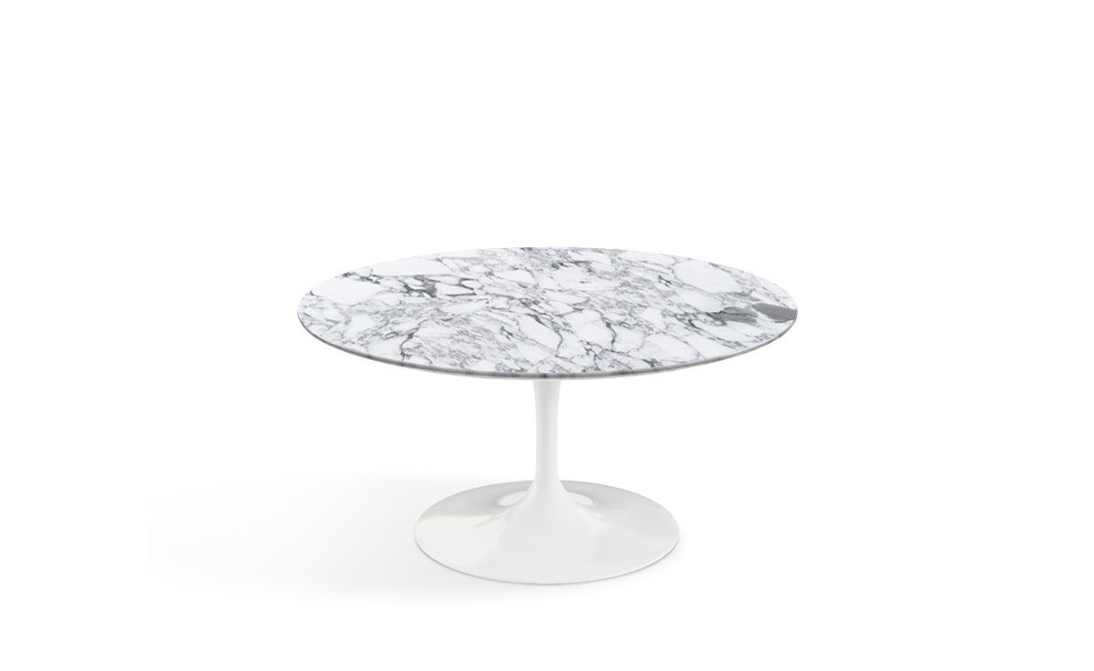 Saarinen Coffee Table Arabescato Marble Hivemodern Com