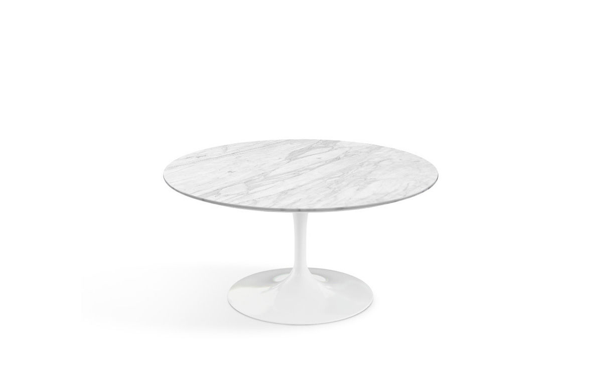 Saarinen coffee table carrara marble - Table basse ajustable hauteur ...