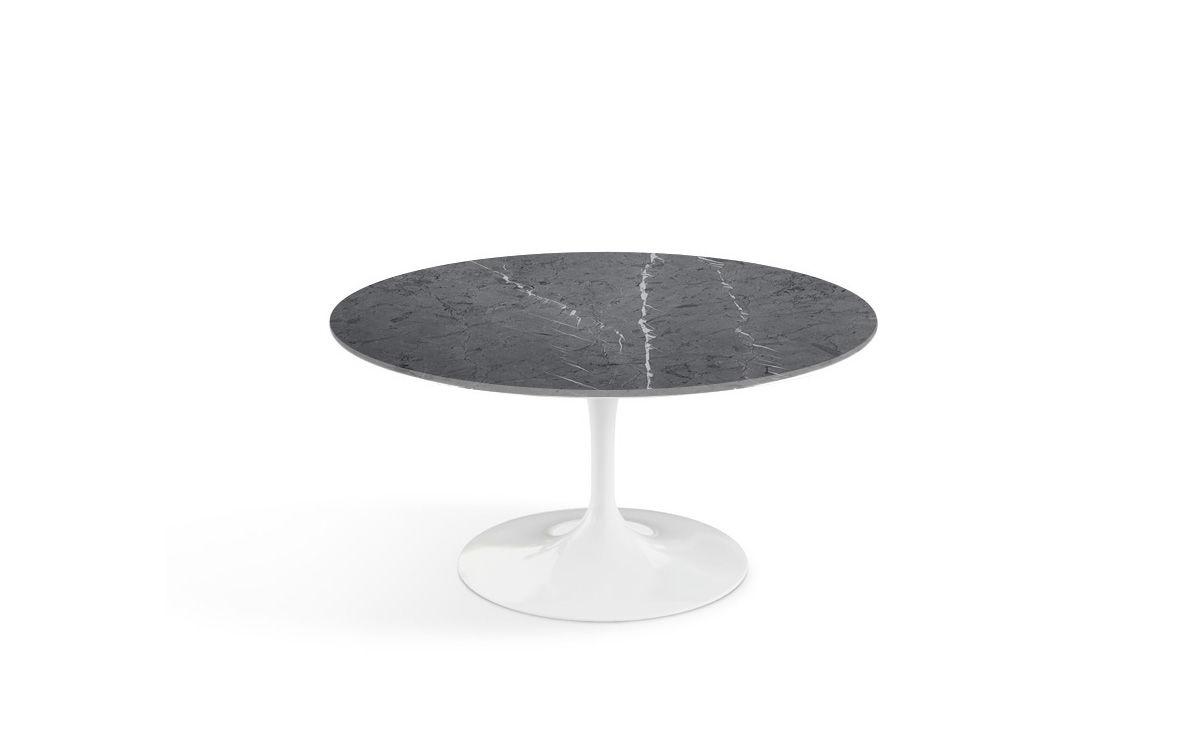 Saarinen Coffee Table Grigio Marquina Marble Hivemoderncom - Black marble saarinen table