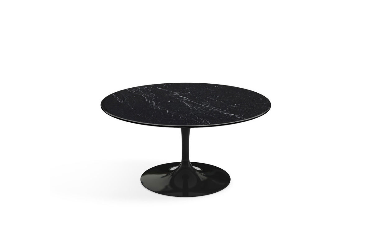 black marble coffee table by: saarinen coffee table nero marquina marble