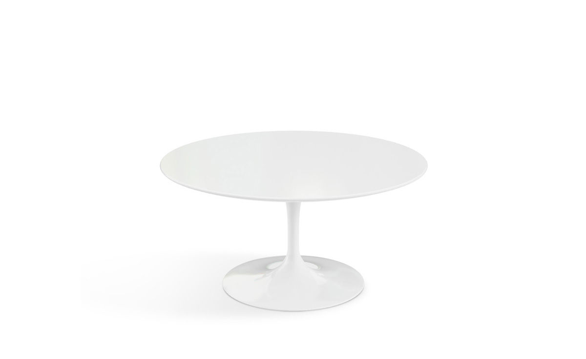 Saarinen Coffee Table White Laminate - hivemodern.com