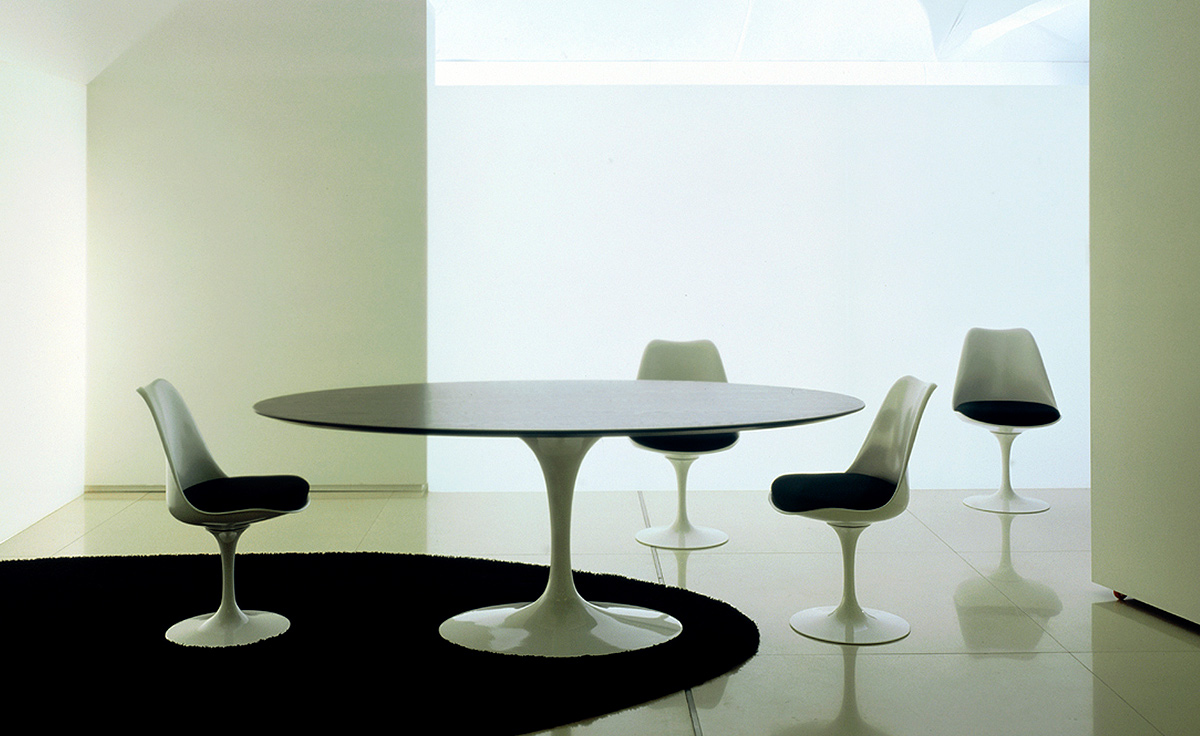 Saarinen Dining Table Black Granite - hivemodern.com