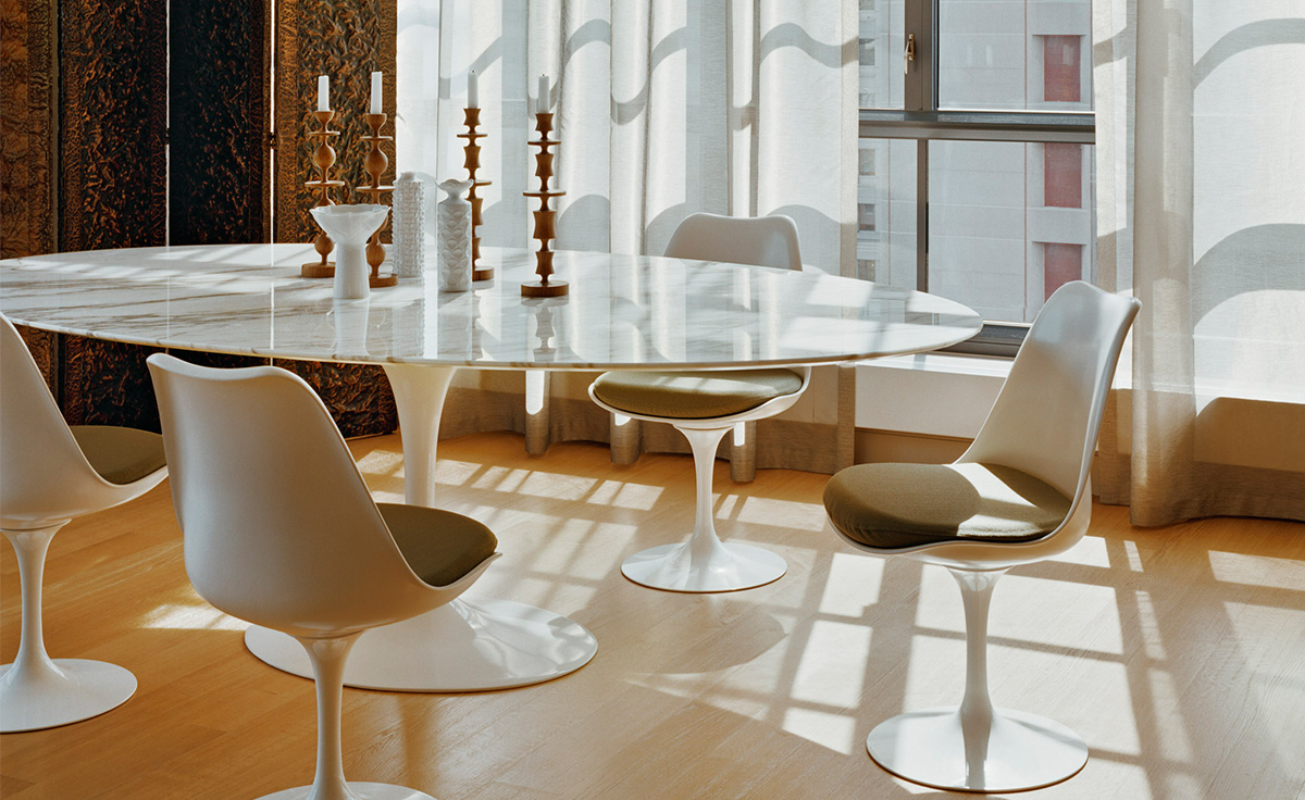 Outstanding Saarinen Dining Table Empire Beige Marble Download Free Architecture Designs Embacsunscenecom