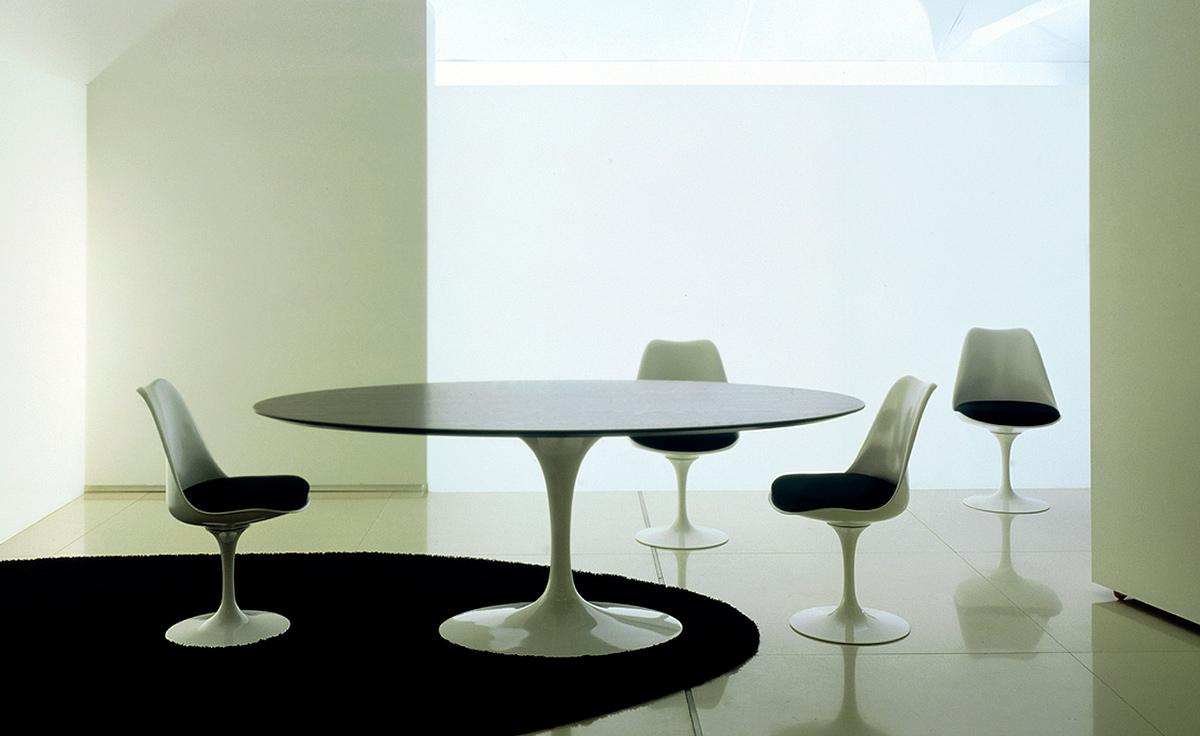 Saarinen Dining Table Teak Or Rosewood Hivemoderncom - Saarinen kitchen table