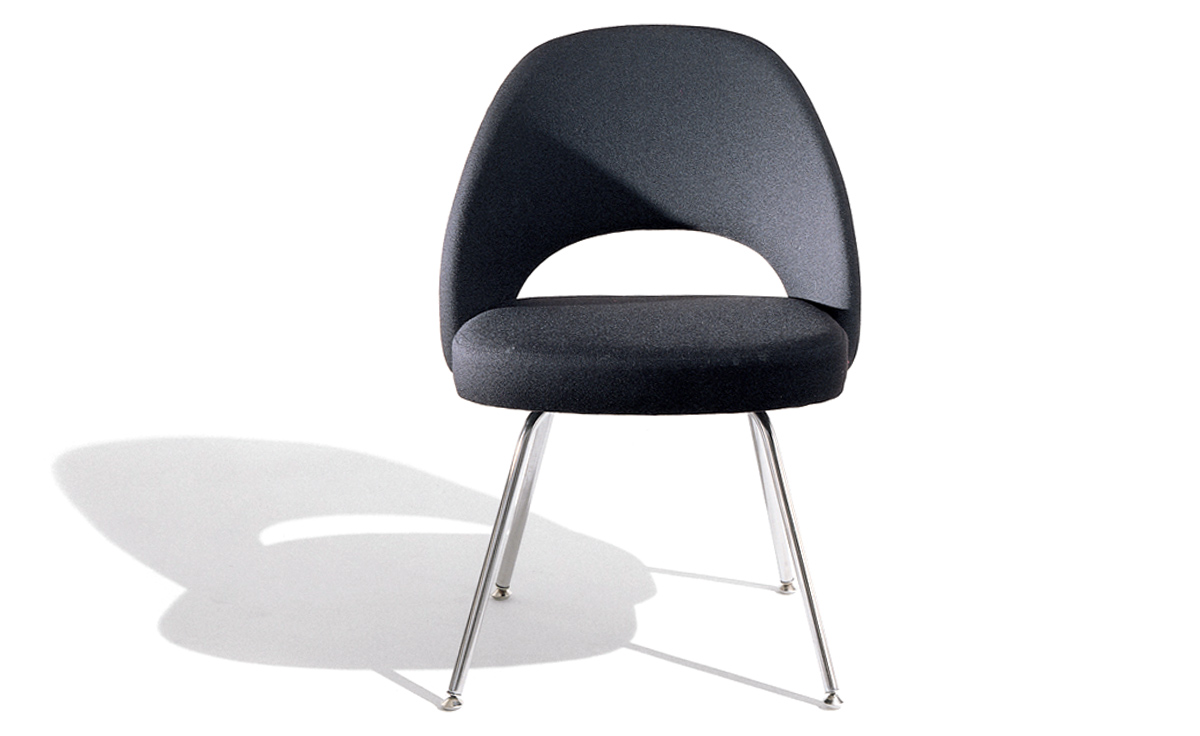 Saarinen Executive Side Chair With Metal Legs Hivemodern Com