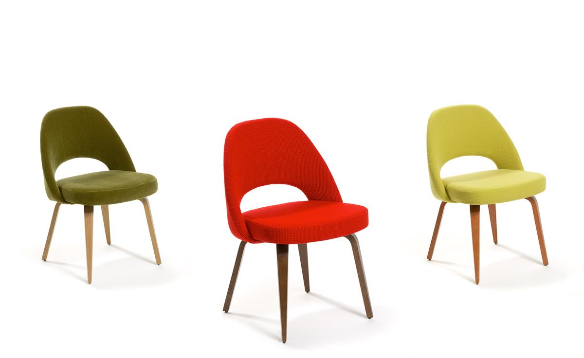 Saarinen Executive Side Chair With Wood Legs Hivemodern Com
