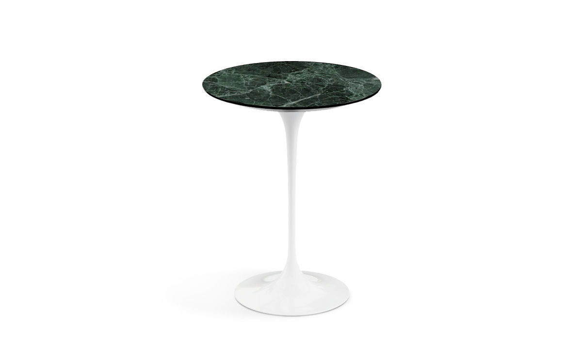 Saarinen Side Table Verdi Alpi Green Marble Hivemodern Com