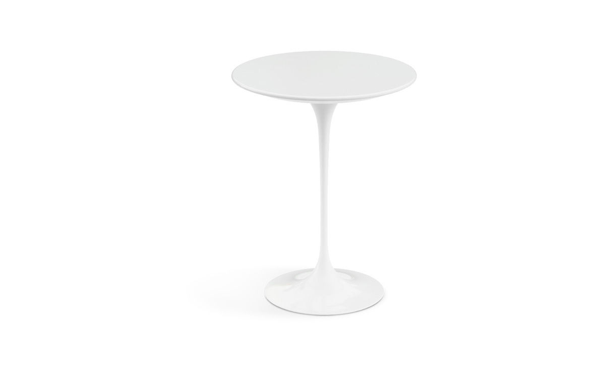 Charmant Saarinen Side Table White Laminate