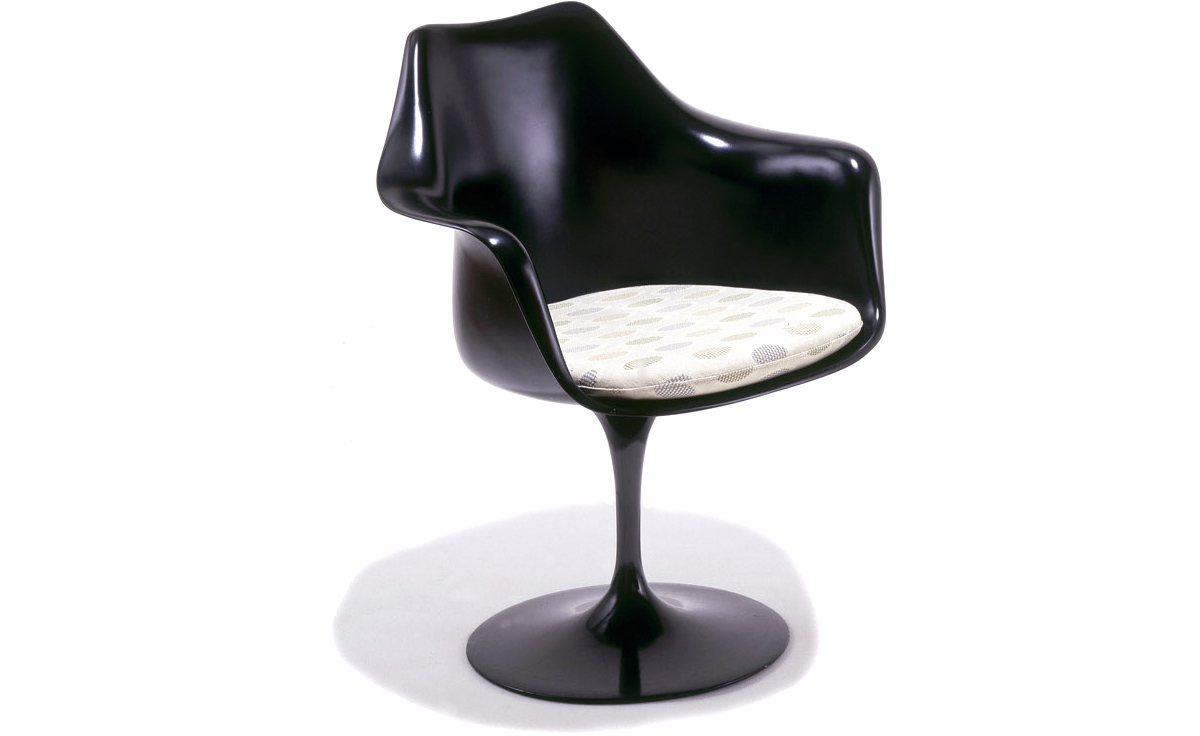 Saarinen Black Tulip Arm Chair  sc 1 st  Hive Modern : knoll saarinen tulip chair - Cheerinfomania.Com